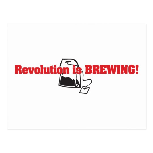 Revolution Is Brewing Postcard