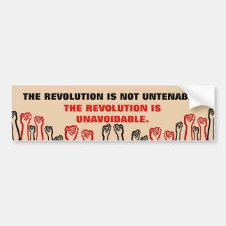 Revolution Is Unavoidable Bumper Sticker