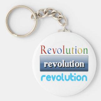 revolution basic round button keychain