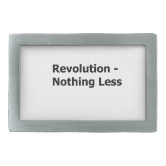 Revolution Nothing less- belt buckle