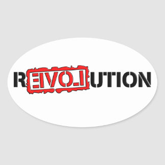 Revolution Oval Sticker