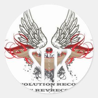 Revolution Records Store Classic Round Sticker