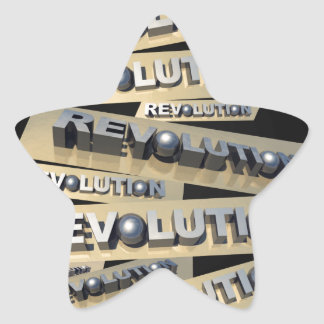 Revolution Star Sticker
