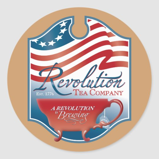 Revolution Tea Company Classic Round Sticker