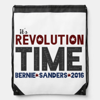 Revolution Time - Bernie Sanders 2016 Drawstring Backpack