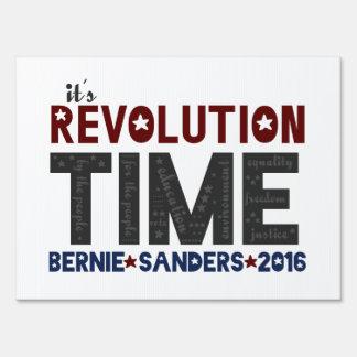 Revolution Time - Bernie Sanders 2016 Yard Sign