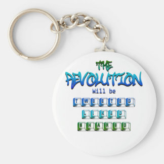 Revolution will be tweeted liked shared (Ver.2) Basic Round Button Keychain