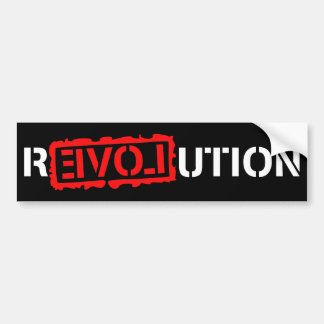 Revolution with love! bumper sticker