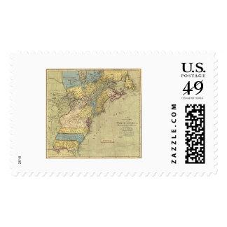 Revolutionary America Map 1771 Postage