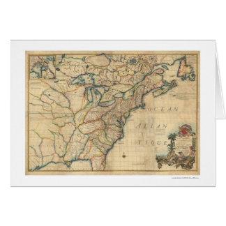 Revolutionary America Map - 1777 Card