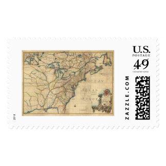Revolutionary America Map - 1777 Postage