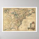 Revolutionary America Map - 1777 Posters