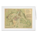Revolutionary Boston Map 1776 Card