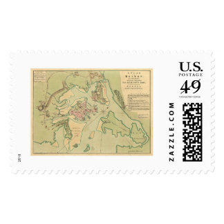 Revolutionary Boston Map 1776 Postage