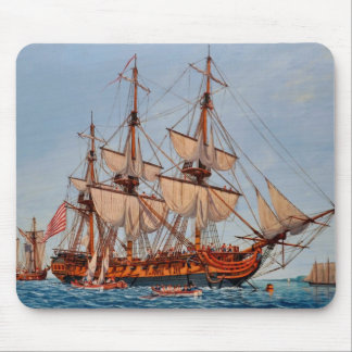 Revolutionary Painting of the Frigate Confederacy Mouse Pad