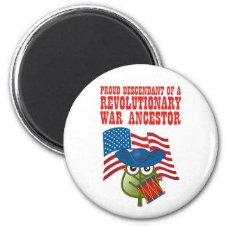 Revolutionary War Ancestor 2 Inch Round Magnet