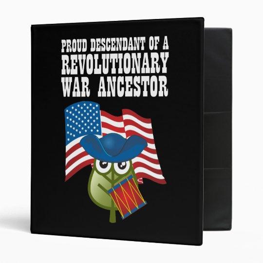 Revolutionary War Ancestor 3 Ring Binder