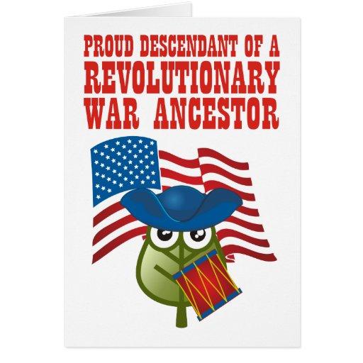 Revolutionary War Ancestor Card