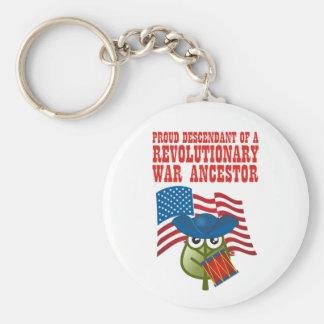 Revolutionary War Ancestor Keychain