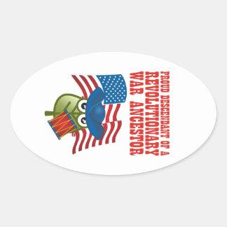 Revolutionary War Ancestor Oval Sticker