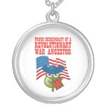 Revolutionary War Ancestor Round Pendant Necklace