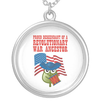 Revolutionary War Ancestor Silver Plated Necklace