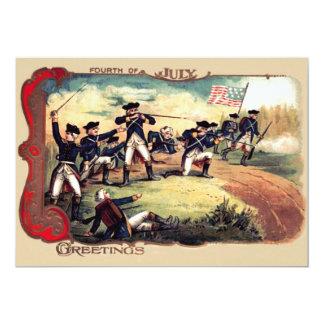 Revolutionary War Battle American Flag Card