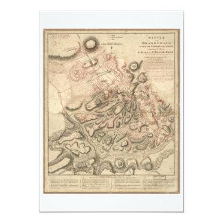 Revolutionary War Battle of Brandywine Map (1777) Card