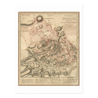 Revolutionary War Battle of Brandywine Map (1777) Postcard