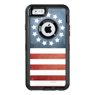 Revolutionary War Betsy Ross Faded U.S. Flag OtterBox Defender iPhone Case
