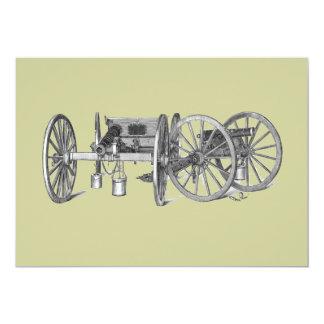 Revolutionary War Cannon Invitation