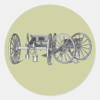 Revolutionary War Cannon Round Stickers