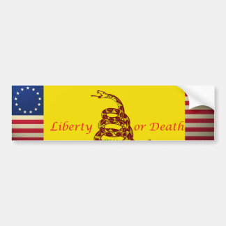 revolutionary-war-flag, revolutionary-war-flag,... bumper sticker