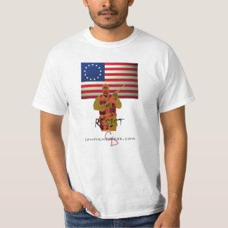 revolutionary-war-flag, rsist, cd-logo-wt T-Shirt