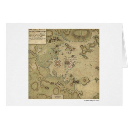 Revolutionary War Map - 1775 Greeting Card