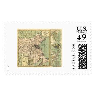 Revolutionary War Map - 1775 Stamp