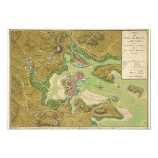 Revolutionary War Map of Boston Harbor 1776 Card