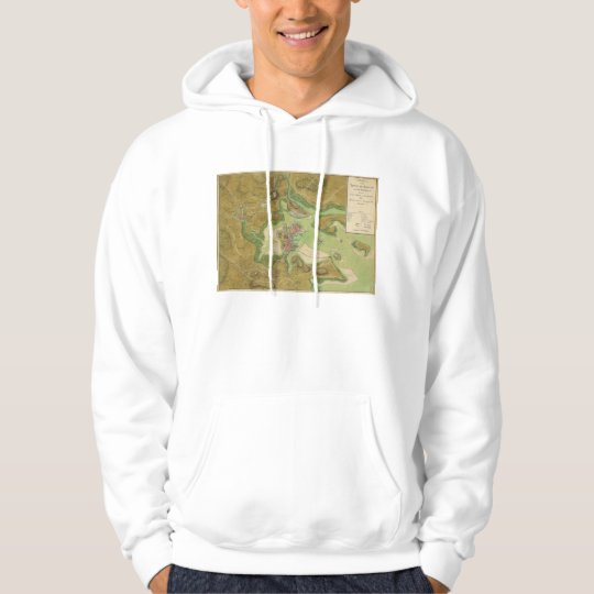 Revolutionary War Map of Boston Harbor 1776 Hoodie