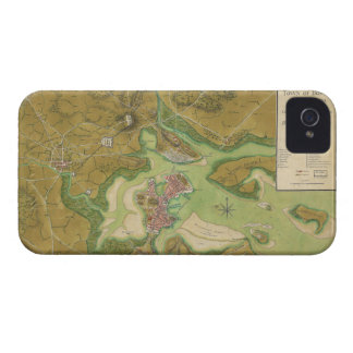 Revolutionary War Map of Boston Harbor 1776 iPhone 4 Case-Mate Case