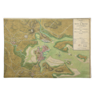 Revolutionary War Map of Boston Harbor 1776 Placemat