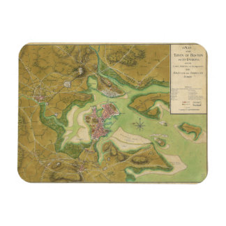 Revolutionary War Map of Boston Harbor 1776 Rectangular Photo Magnet