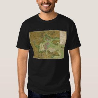 Revolutionary War Map of Boston Harbor 1776 Tee Shirt