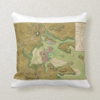 Revolutionary War Map of Boston Harbor 1776 Throw Pillow