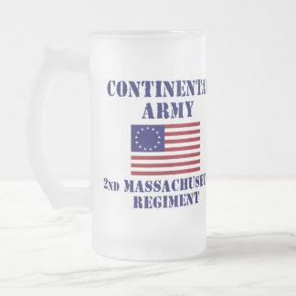 Revolutionary War Massachusetts Regiment Glass Mugs