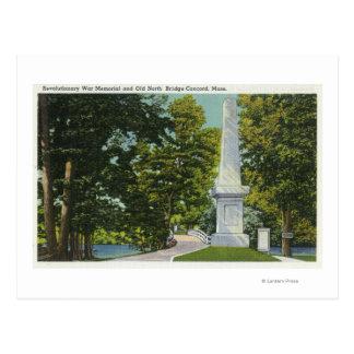 Revolutionary War Memorial, Old North Bridge Post Cards
