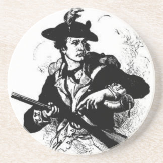 Revolutionary War Minuteman with Gun Coaster