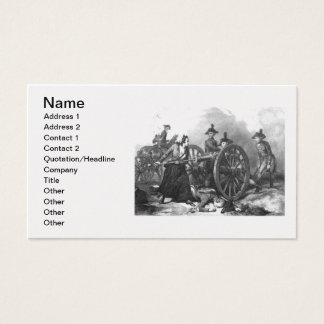 Revolutionary War Molly Pitcher Cannon Business Ca Business Card