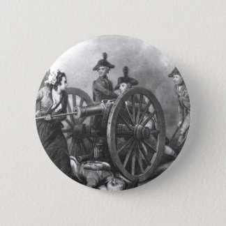 Revolutionary War Molly Pitcher Cannon Button
