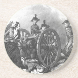 Revolutionary War Molly Pitcher Cannon Coaster