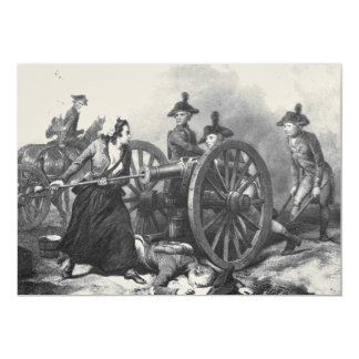 Revolutionary War Molly Pitcher Cannon Invitation